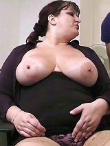 Nasty boss seduces a future call centre worker and bones her thick tits and fat pussy